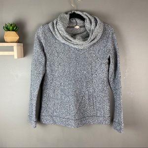 J Crew gray pullover cowl neck sweater size small